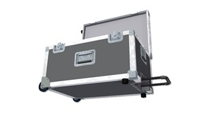 Rolling Trunk with recessed extending handle Flight Case