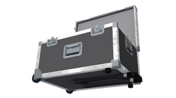 Rolling trunk with surface extending handle Flight Case